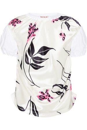 Marni Camiseta de satén y algodón floral