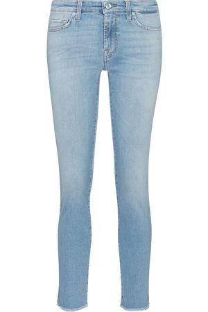 7 for all Mankind Jeans skinny Pyper de tiro medio cropped
