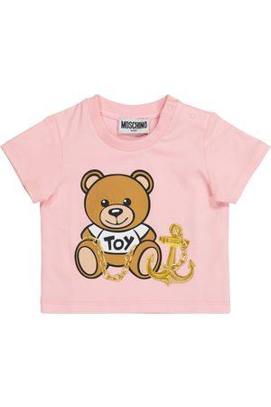 Moschino Bebé - camiseta de algodón con logo