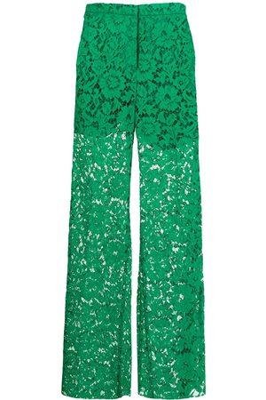 VALENTINO Mujer Pantalones acampanados - Pantalones anchos de encaje