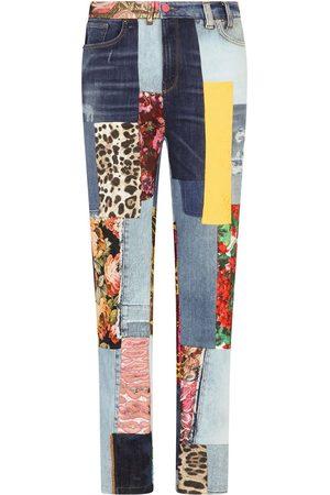 Dolce & Gabbana Vaqueros skinny con diseño patchwork