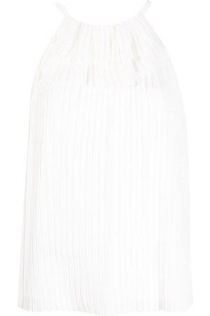 Emporio Armani Blusa plisada con cuello halter