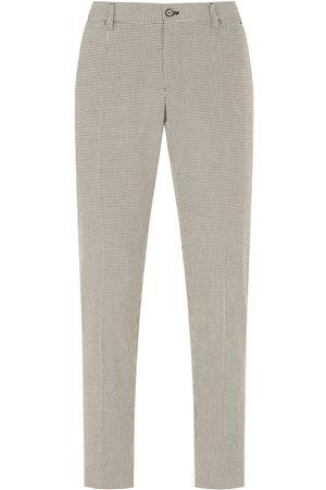 Dolce & Gabbana Pantalones de vestir con motivo pied de poule