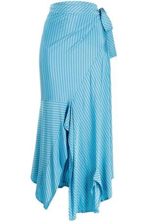 MM6 MAISON MARGIELA Falda midi a rayas