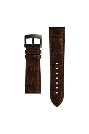 Ralph Lauren Correa de reloj de piel de caimán