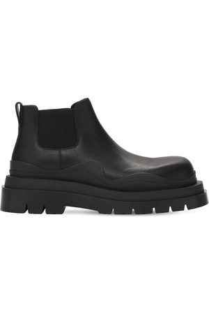Bottega Veneta | Hombre Bv Tire Leather Chelsea Mid Boots 39