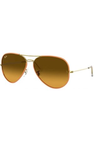 RAY-BAN RB3025JM Aviator Full Color 91963C Yellow ON Legend Gold