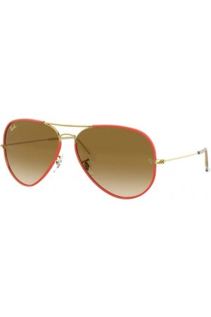 Ray-Ban RB3025JM Aviator Full Color 919651 RED ON Legend Gold