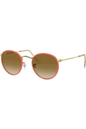 Ray-Ban RB3447JM Round Full Color 919651 RED ON Legend Gold