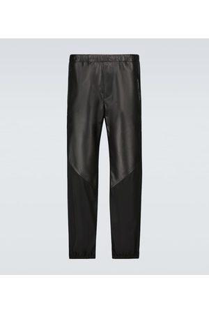 Givenchy Pantalones de piel y nylon