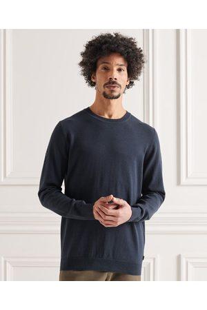 Superdry Hombre Jerséis y suéteres - Jersey de punto de algodón con cuello redondo