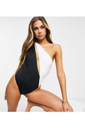 Free Society Trikini negro y blanco asimétrico de -Multicolor