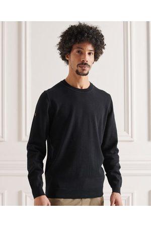 Superdry Jersey de punto de algodón con cuello redondo