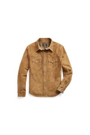 RRL Chaqueta estilo camisa Western de ante