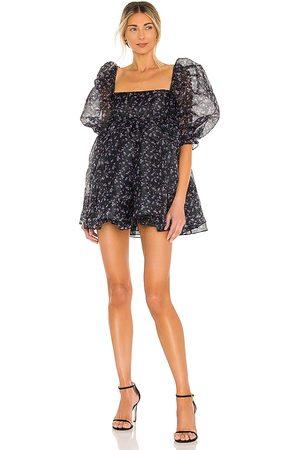 Selkie Vestido puff en color negro talla L en - Black. Talla L (también en M, S, XS).