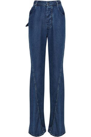 Bottega Veneta | Mujer Jeans Rectos De Denim De Algodón 36