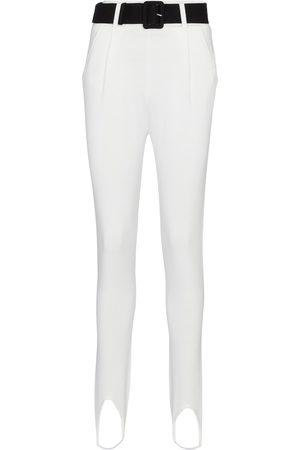 Self-Portrait Pantalones ajustados con cinturón