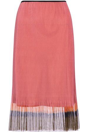 DRIES VAN NOTEN Mujer Midi - Falda midi de malla plisada