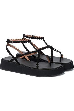Alaïa Sandalias de gamuza de plataforma