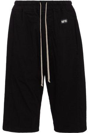 Rick Owens Mujer Pantalones cortos - DRKSHDW shorts de algodón con cordón