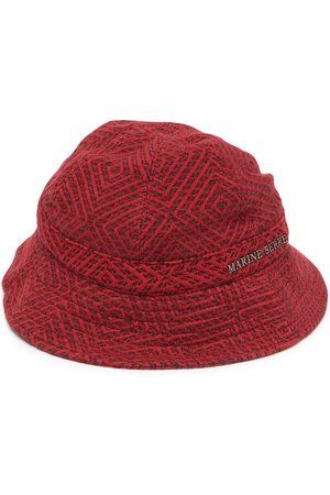 Marine Serre Mujer Sombreros - Sombrero de pescador con placa del logo