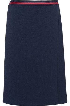Miu Miu Falda con cintura a rayas