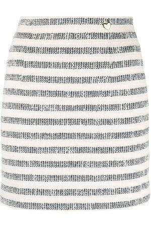 Twin-Set Falda de cintura alta a rayas