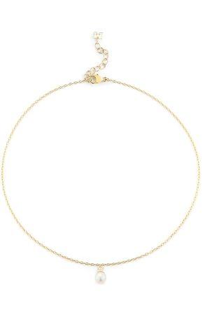 Mateo Tobillera en oro amarillo de 14kt con perla