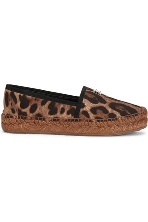 Dolce & Gabbana Mujer Alpargatas - Alpargatas con motivo de leopardo
