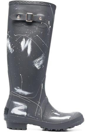 Serafini Paint splatter print wellington boots