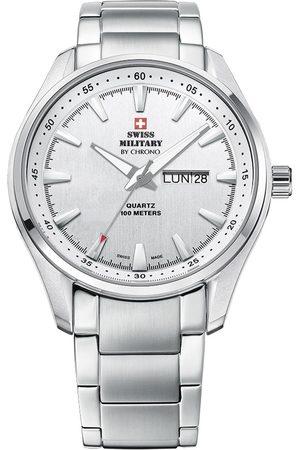 CHRONO Reloj analógico SM34027.02, Quartz, 44mm, 10ATM para hombre