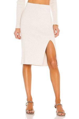 Bobi Mujer Faldas - Falda black fine en color ivory talla L en - Ivory. Talla L (también en M, S, XS).