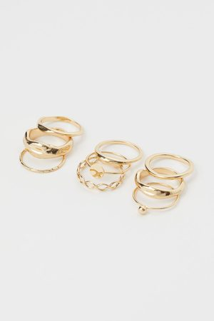 H&M Mujer Sets de joyas - Pack de 9 anillos