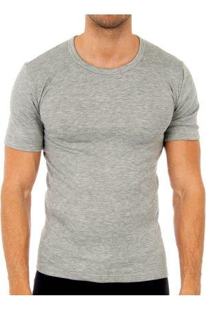 Abanderado Camiseta interior Pack-3 camisetas fibra m/c blanco para hombre
