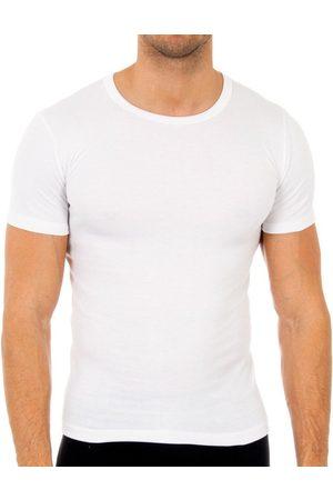 Abanderado Camiseta interior Pack-3 camisetas fibra m/c para hombre