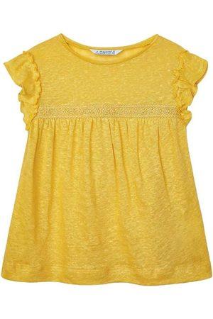 Mayoral Blusa Camiseta m/c lino para niña
