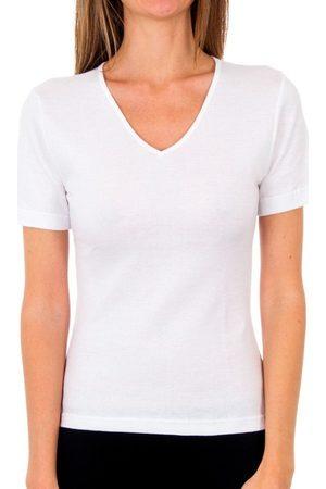 Abanderado Camiseta interior Pack-3 cam. sra m/c microthermal para mujer