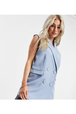 Y.A.S Mujer Blazers - Americana azul sin mangas de