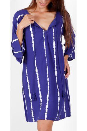 Admas Vestido Robe de plage manches trois quarts Tie And Dye para mujer