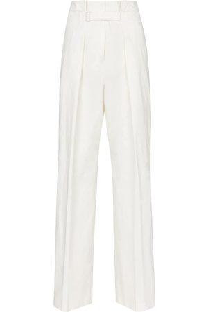 Jil Sander Mujer Pantalones de talle alto - Pantalones plisados de tiro alto