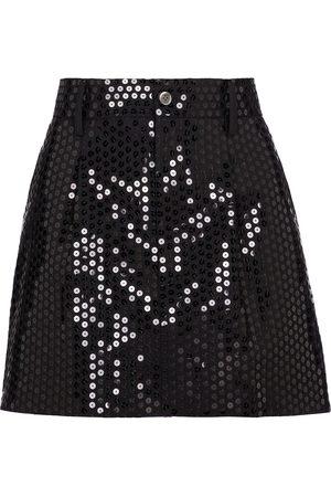 JUNYA WATANABE Minifalda mezcla de lana con lentejuelas