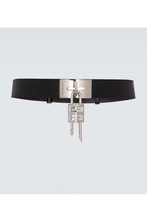 Givenchy Cinturón de piel con candado