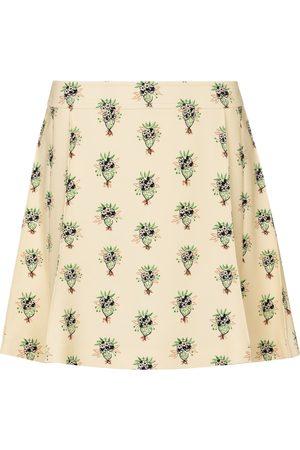 Chloé Mujer Minifaldas - Minifalda de crepé floral