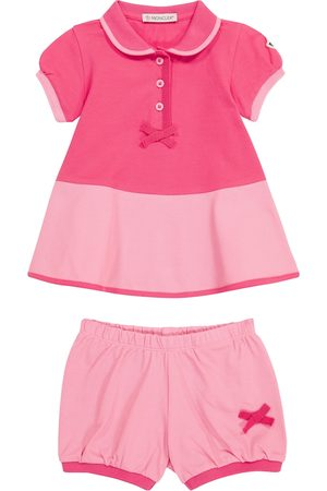 Moncler Bebé - conjunto de vestido y braga