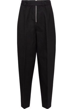 Jil Sander Pantalones de piqué de algodón