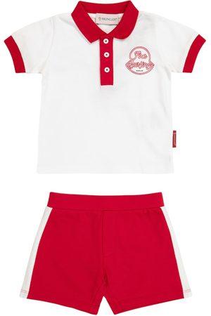 Moncler Bebé - set de polo y shorts