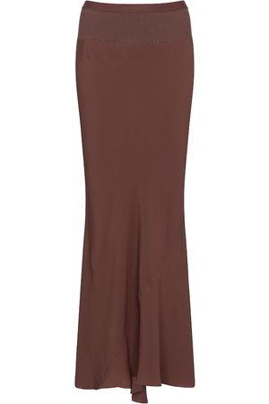 Rick Owens Mujer Largas - Falda larga de crepé de china