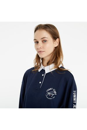 Tommy Hilfiger Mujer Polos - Crop Tape Rugby Polo Shirt Navy