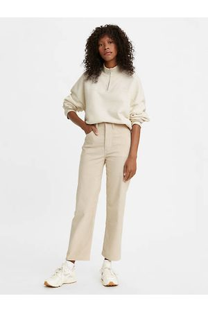 Levi's Mujer Cintura alta - Ribcage Straight Ankle Jeans Neutral / Sand Shell Wide Wale