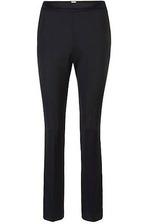 HUGO BOSS Pantalones de esmoquin regular fit con ribetes de seda